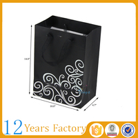 black coated paper wine retail shopping bags