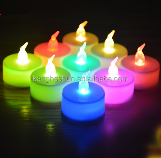 Party Decoration Flickering Rechargeable Battery Powered Flameless LED Tealight Candles