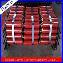 Unique design steel pipe catenary rollers electrostatic painting used in mining