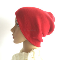 fashion lady winter warm knitted hat with earflaps pattern
