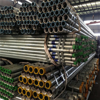 Plastic Thread/Plain Round Galvanized Steel Pipe made in China