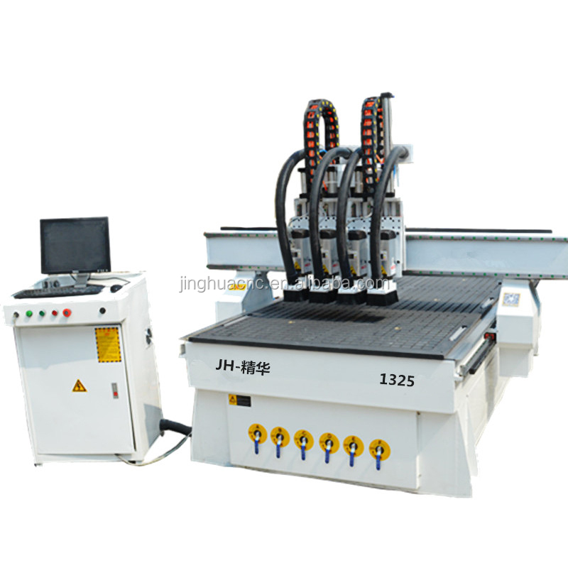China jinghua brand <strong>cnc</strong> four working procedure high speed machine for wood engraving
