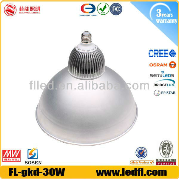 High lumen IP65 explosion proof led high bay lighting dc 30w led high bay