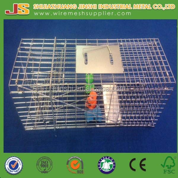 "2014 new type 34""x12""x12""collapsible humane animal trap cage for rat & possum &raccoon & wild cat"