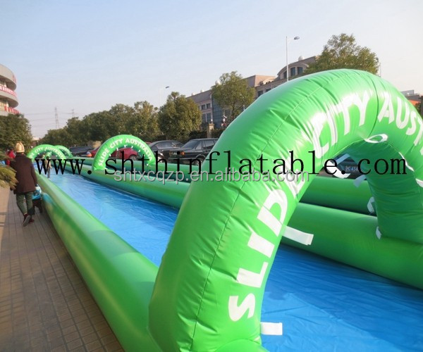 largest inflatable water slip slide
