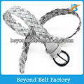 Women's Casual Braided Faux PU Leather Belt for Jeans