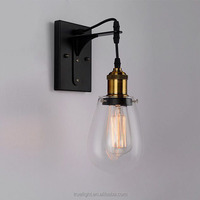 industrial retro antique mount glass wall lights for hotel lamp room decorate