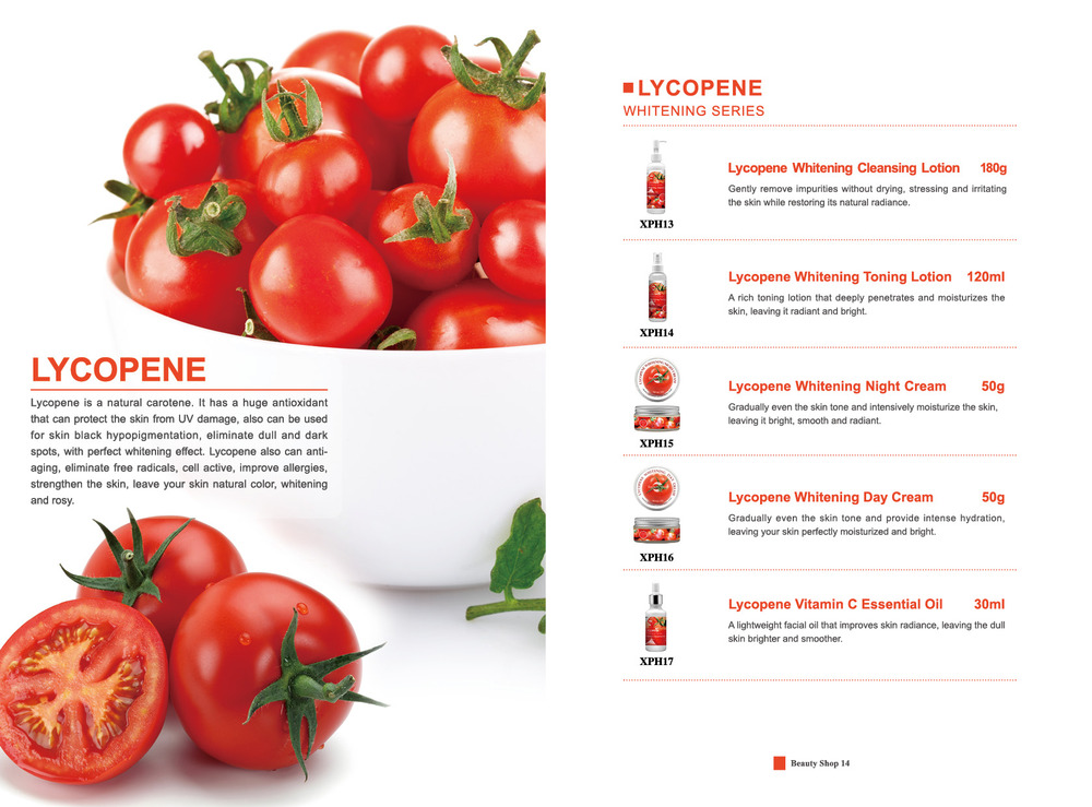Lycopene whitening cleansing lotion/best face wash for oily skin