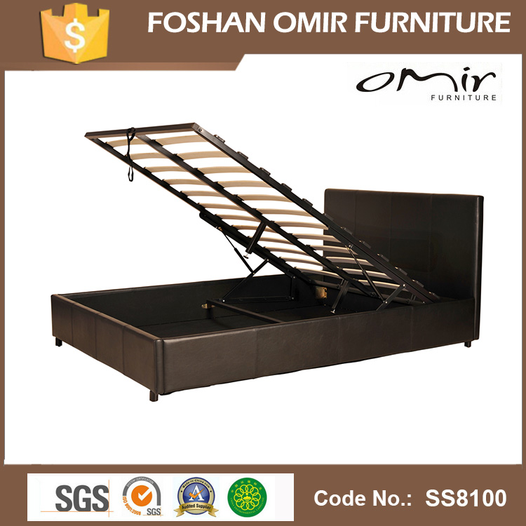 SS8100 gas lift bed with storage box queen folding bed frame