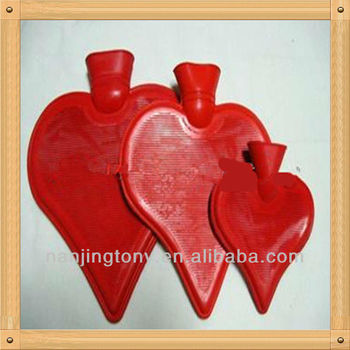 2013 new heart sharp rubber hot water bottle