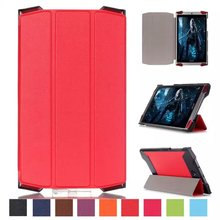 PREMIUM RED 3 FOLDING PU LEATHER CASE FOR Acer Predator 8 GT-810 SMART STAND COVER