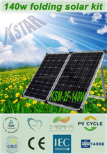 140w 18v solar battery charger camping portable solar folding panel/mini solar system/zhejiang manufacturer