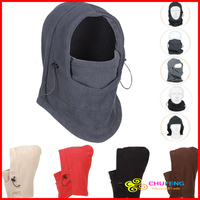 Free Shipping Multi-use Thermal Fleece Balaclava Neck Winter Ski Full Face Mask Cap Cover