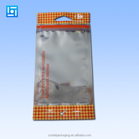 Front Transparent Resealable Zipper Poly Plastic Bag