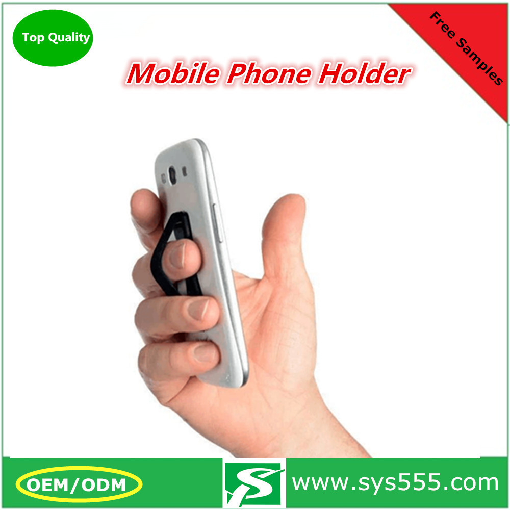 Wholesale cheap price custom logo finger grip elastic phone holder