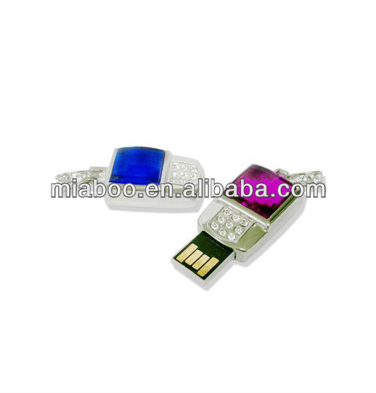 USB jewelry usb 2.0, jewelry diamond usb flash drive with push button, gadgets gifts