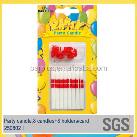 Wholesale Flag Printing Party Candles with red base