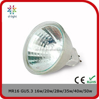 MR16 dimmable 35w 12V crystal glass halogen lighting bulb