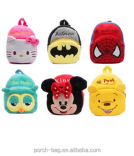 Custom kids animal plush school backpack with different color and shape