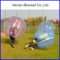 PVC/TPU Transparent Human Inflatable Bumper Bubble Ball , Body Zorb Ball for Sale