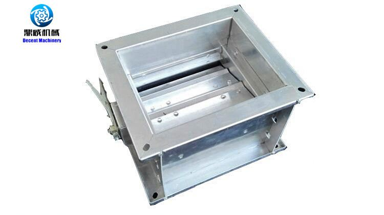 Airflow ventilation motorized control damper with actuator control
