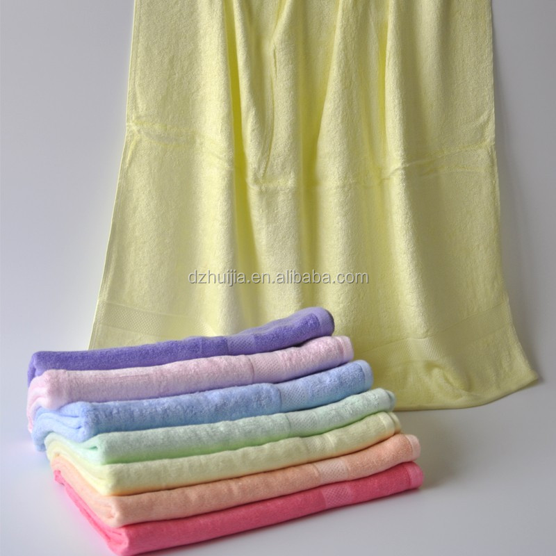 Plain Dyed Pattern Soft Comfortable 100% Organic Bamboo Material Bath Towel Beach Towel