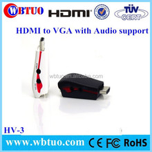 Whosesale HDMI to VGA Cable Adapter AV Converter with Audio Male to Female cable