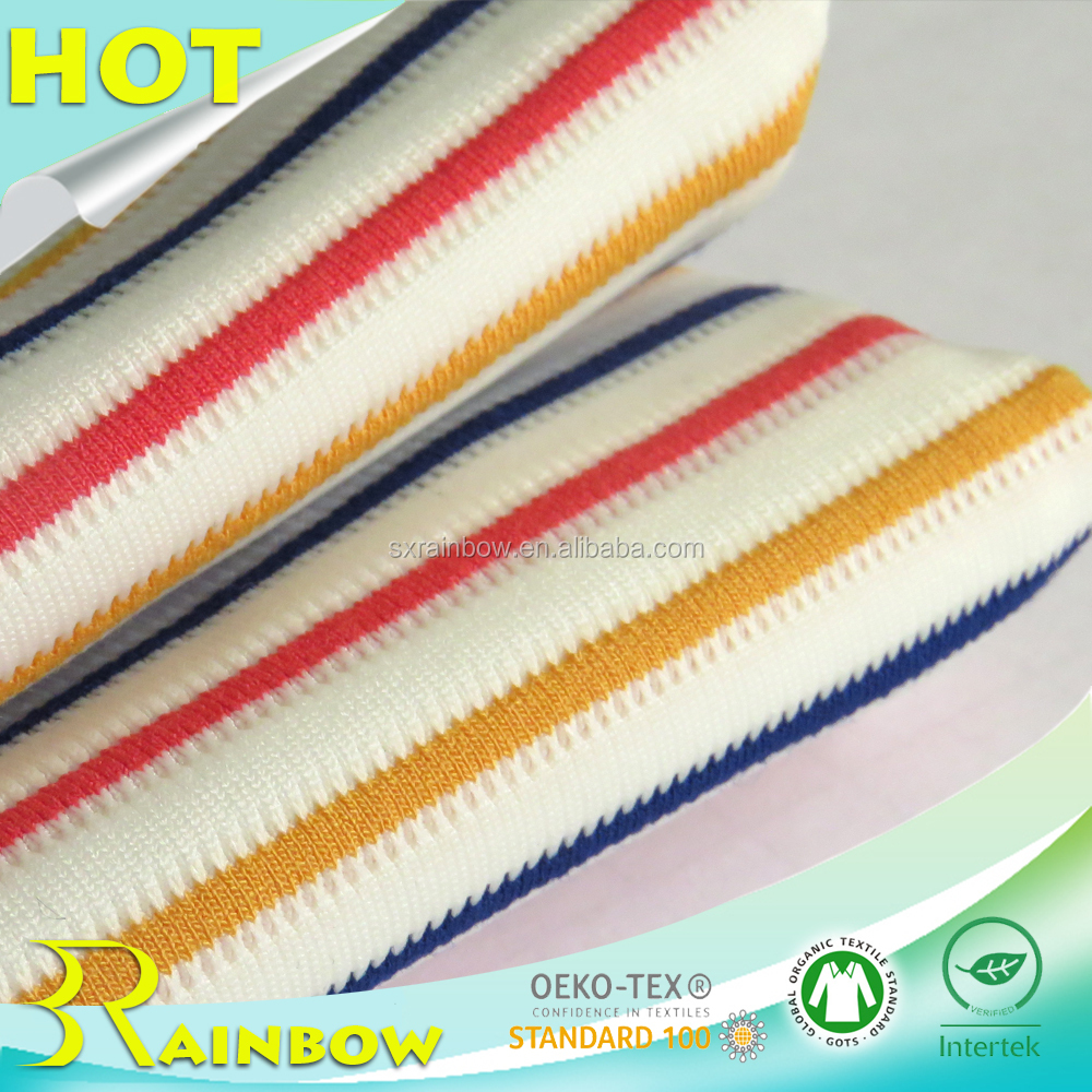 2017 Colorful Yarn Dyed Knitted Stripe Poly Viscose Fabric for Apparel