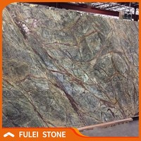 india rainforest green marble slab