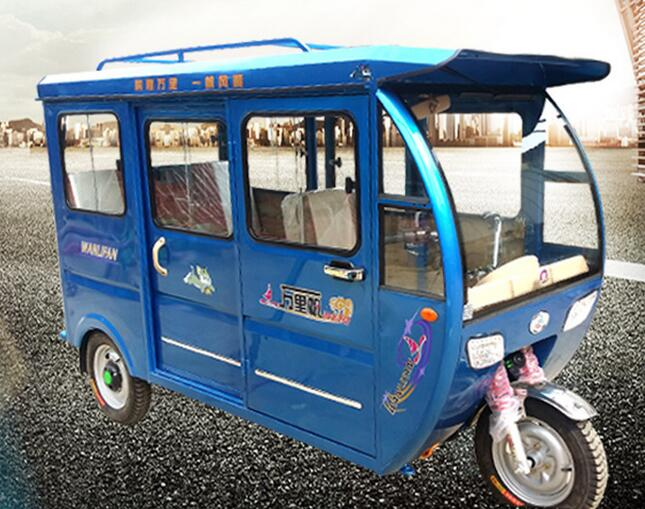 hybrid rickshaw electric delivery tricycle