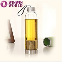 2016 Amazon Best Selling Products Promotional Gift Wholesale Glass Water Bottle With Infuser