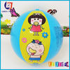 Inflatable PVC Blue Beach Ball For Water And Beach Items Babys Toy