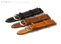22mm Handmade Nato Zulu high quality cow leather cuff watch band