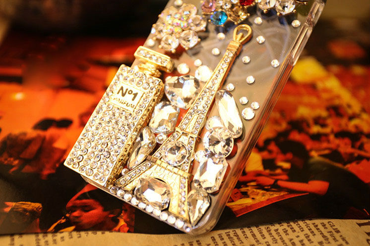 luxurious Crystal cute case for iphone5 diamond cover;