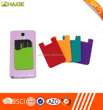 Newest Sticker Silicone Smart Wallet For Mobile Phone Silicone Card Holder, silicon back phone pouch/smart wallet