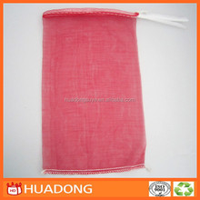Alibaba China High Quality New Product Raschel Mesh Onion Drawstring Bags For Sale