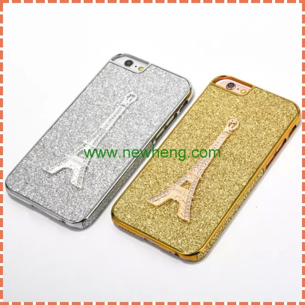 Luxury Eiffel Tower design bling diamond crystal phone case For Iphone 6s