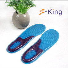 Reusable soft silica gel foot insoles
