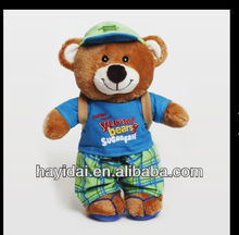 Christmas teddy bear with backpack plush toys
