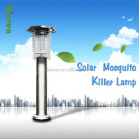AGPtek Indoor Outdoor Wireless Solar Power Mosquito Killer UV Lamp, Insect Pest Bug Zapper Sensor Light For modern house