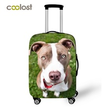 COOLOST Wholesale Cute Pet Dog Sublimation Printed Spandex Polyester Waterproof Luggage Cover Protector