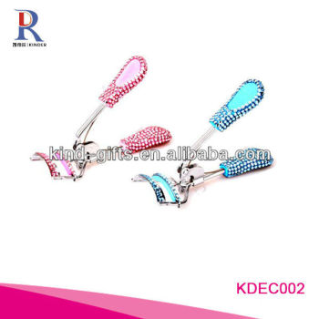 Wholesale New Design Rhinestone Jewelled Eyelash Curler Tips For Lady Makeup Tools