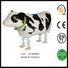 Wholsesale Inflatable Walking Cow Helium Foil Balloon,Walking Pets Foil Balloon,Walking Animal Foil Balloon