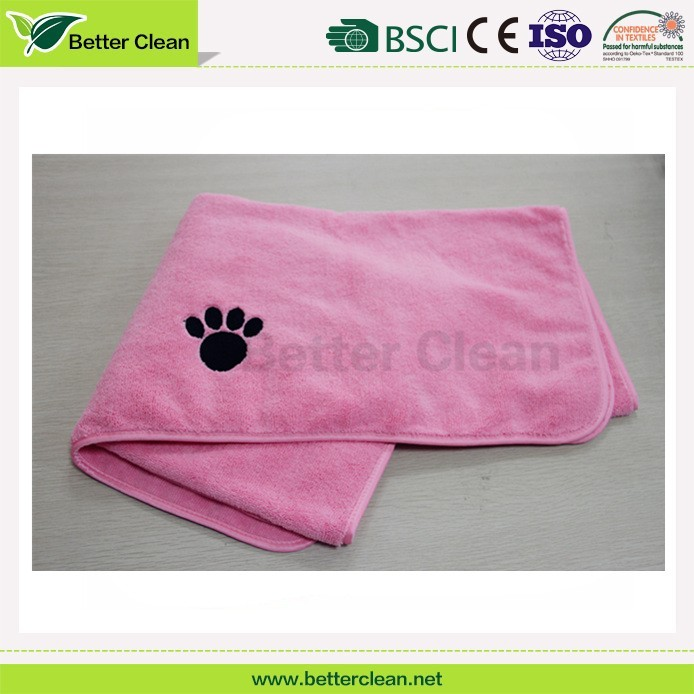 Knitting for dog wash cleaning quick dry softable pet microfiber towel