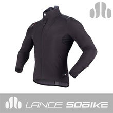 stock on sales winter pro riders black bike jacket custom windproof cycling coat factory