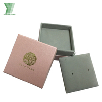 Luxury Cardboard Carton Packaging Customized Printed Jewelry Box Paper