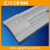 4ft Commercial LED Linear Stairwell Ceiling Light with Dimming Sensor