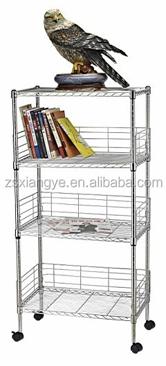 Different Using 4Tiers Chrome Plated Wire Shelving Brackets