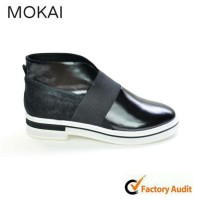 MK031-14 BLACK latest design high quality leather men/women shoe 2015 casual shoes popular