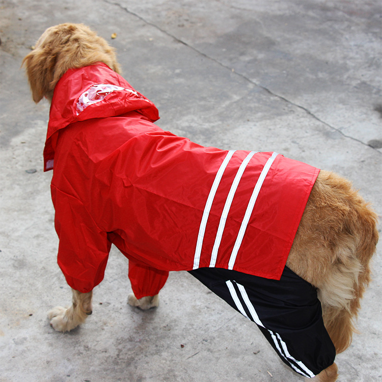 R1821H New style fashionable PU large pet dog waterproof raincoats